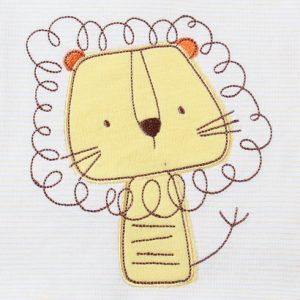 Body bé gái dài tay phối voan in hình mèo vàng