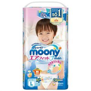 Bỉm - Tã quần Moony man size L