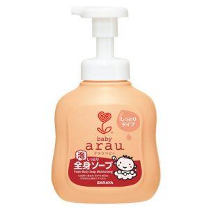 Bọt tắm thảo mộc dưỡng ẩm Arau Baby 450ml