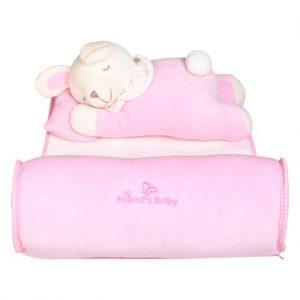 Bộ gối chặn xuất Hàn Friend's Baby màu hồng