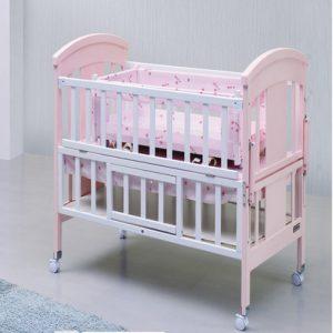 Cũi gỗ trẻ em SK 520 màu hồng