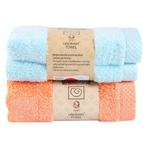 Hộp 2 khăn mặt sợi tre Unobaby 28 x 50 cm 1