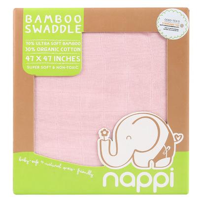 Hộp khăn sợi tre Nappi đa năng 120 x 120 cm hồng