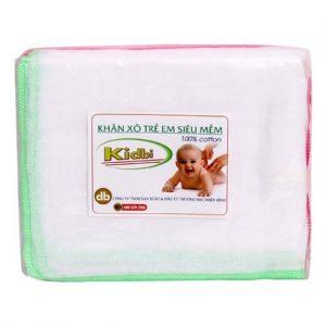 Khăn sữa Nhật trẻ em siêu mềm Kidbi 2 lớp