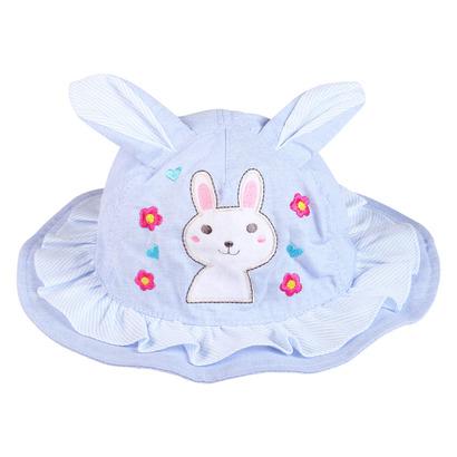 Mũ Bo vành bé gái tai thỏ màu xanh