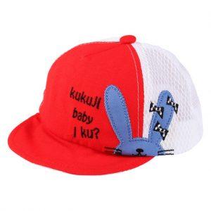 Mũ lưỡi trai bé trai thêu hình thỏ đỏ BH08