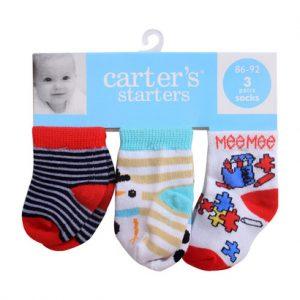 Set 3 đôi tất sơ sinh Carter's 3M